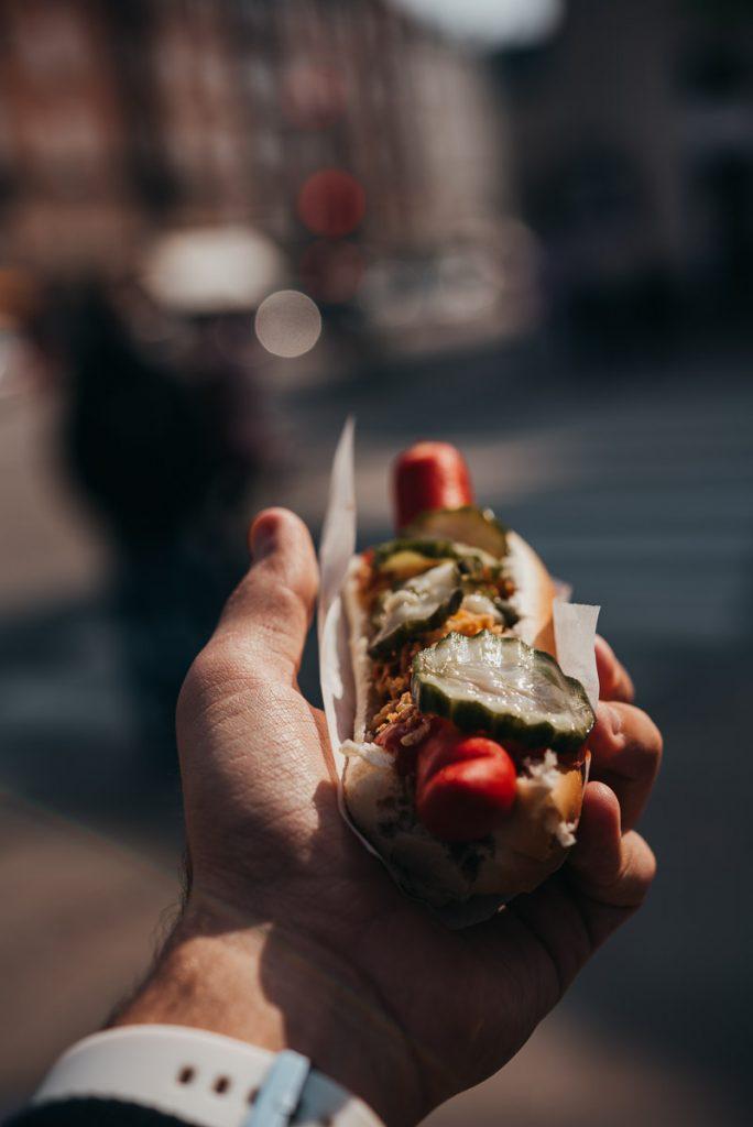 Dänische Hot Dogs in Kopenhagen