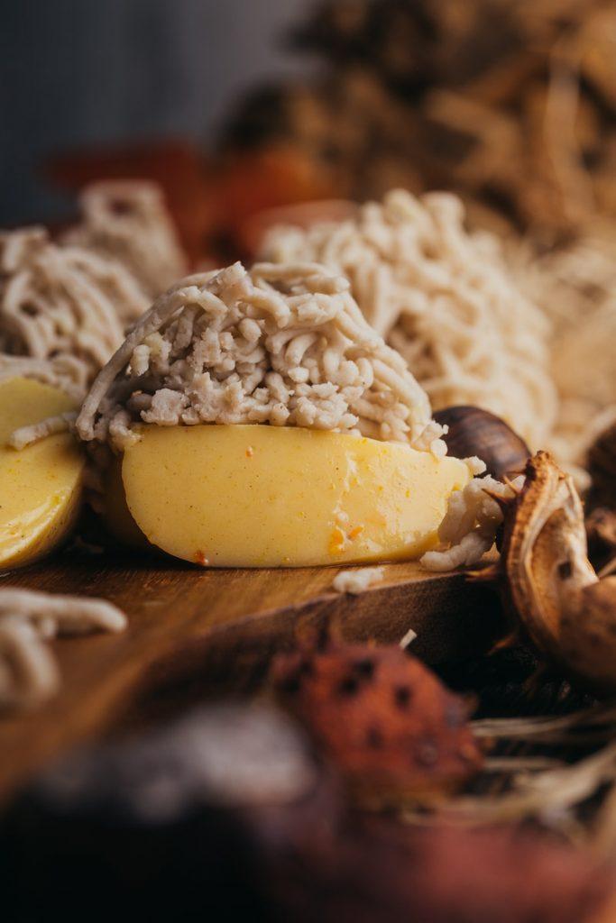Vermicelles Dessert Nahaufnahme