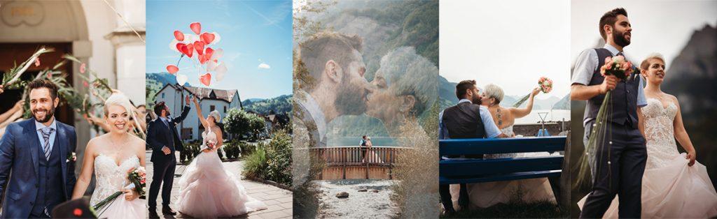 Hochzeits Collage vom Hochzeitsfotograf aus der Ostschweiz