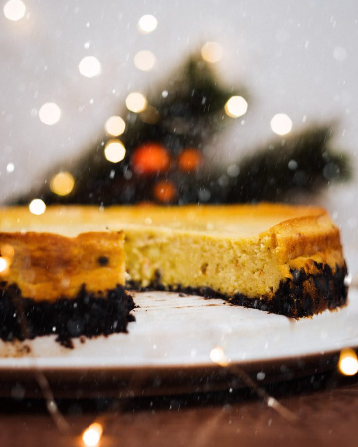 Kürbis Cheesecake mit Oreo Boden